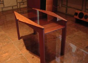 テーブル・デスク ブビンガ材のサイドテーブル