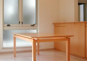 ハードメープル材のダイニングテーブル