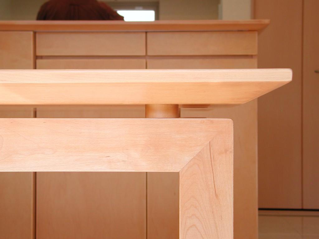 シュリ桜材のダイニングテーブル[3]