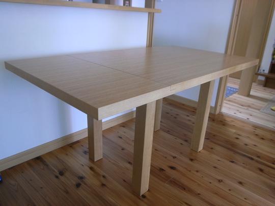 両バタ式のダイニングテーブル3