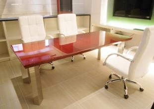 鏡面塗装家具 鏡面塗装打ち合わせテーブル