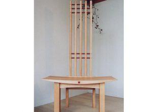 カバ無垢材の飾り椅子
