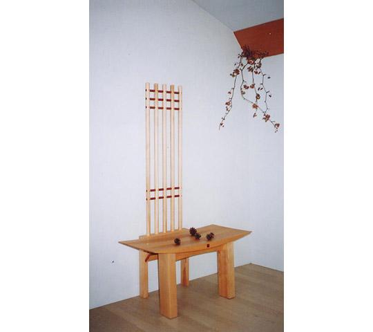 クルミ無垢材の飾り椅子_2