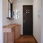 東京のオーダー家具ユウキが作った作り足せる洗面台(ナラ材)