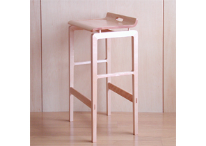 家具施工例 メープルの無垢材を使ったカウンタースツール