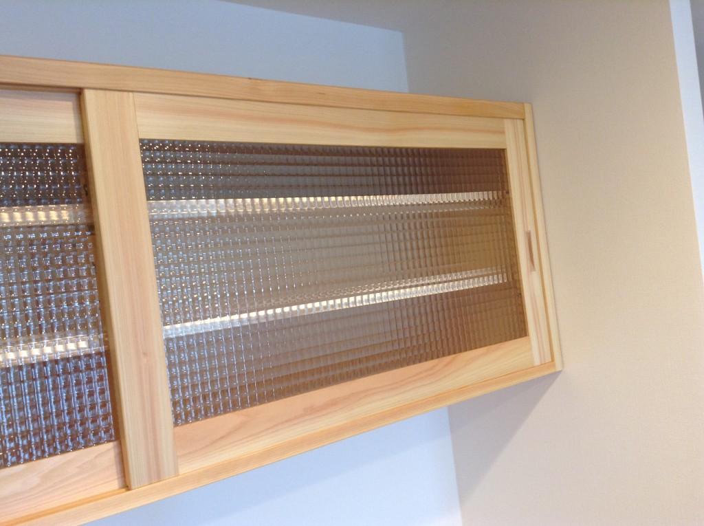 神奈川県産材ヒノキ食器棚のオーダー家具事例