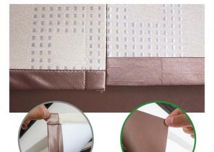 縫製比較カーテン 美しい柄合わせ縫製